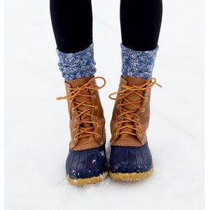 Accessories - Knit Warm Casual Wool Crew Winter Boot Socks